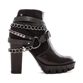 Love Moschino Rock Walking Heel in Black
