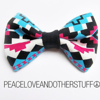 Aztec Tribal Print Hair Bow