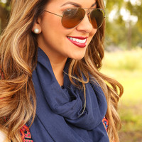 Take Me Away Scarf: Navy       - One