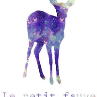Fawn Galaxy Universe Fine Art Print