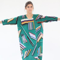 Hui Hui Scarf Dress Green Woods