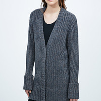 Antipodium Bookman Oversized Cardigan in Grey - Urban Outfitters