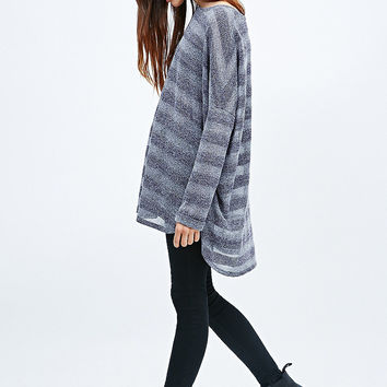 Sparkle & Fade Oversized Tunic Jumper in Purple - Urban Outfitters