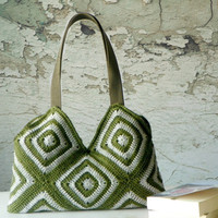 Stripet crochet purse,New Four Season Crochet bag - Shoulder Bag SALE OFF 20%,