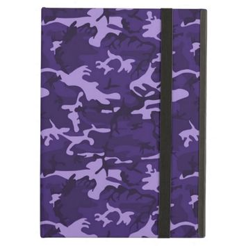 Purple Woodland Camouflage Pattern iPad Air Case