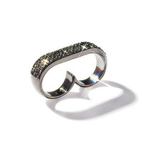 Charcoal Noir Double Ring