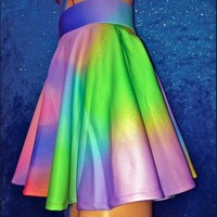 SWEET LORD O'MIGHTY! GREEN POP SK8R SKIRT