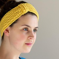 Mustard Yellow Crochet Headband - E.. on Luulla
