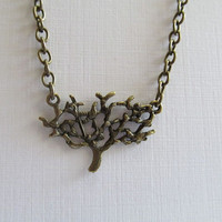 Antique Bronze Necklace, Tree of Life Necklace