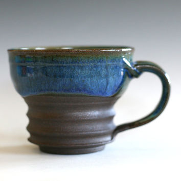 Coffee Mug, handthrown ceramic stoneware pottery mug, unique coffee mug