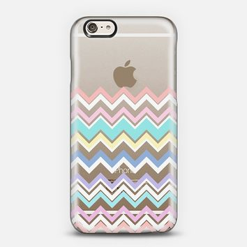 Multicolor Pastel Chevron Transparent iPhone 6 case by Organic Saturation | Casetify