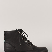 Zipper Military Lace Up Bootie