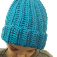 Basic ribbed chunky skull cap, custom color and size, made to order