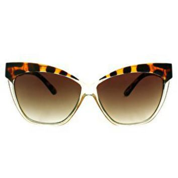 ASOS Cat Eye Sunglasses With Contrast Highbrow at asos.com