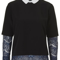 Lace Sleeve Top - New In