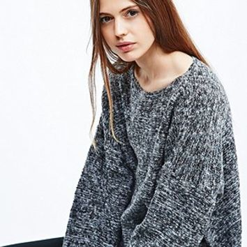 Sparkle & Fade Space Dye Jumper in Grey - Urban Outfitters