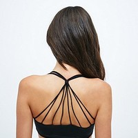 Silence + Noise Strappy Back Crop Top in Black - Urban Outfitters