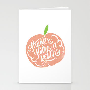 YOU'RE A PEACH Stationery Cards by Matthew Taylor Wilson