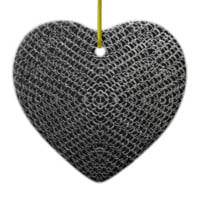 Silver Chain Mail Christmas Ornament