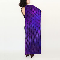 Purple Dragon Scales Long Scarf by Blooming Vine Design (Long Scarf (16