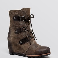 Sorel Waterproof Cold Weather Wedge Lace Up Boots - Joan of Arctic