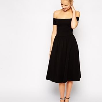 ASOS Bardot Midi Skater Dress