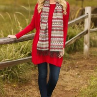 Wrapped Up In You Tunic-Cranberry