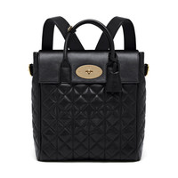 Large Cara Delevingne Bag in Black Quilted Lamb Nappa | Cara Delevingne | Mulberry