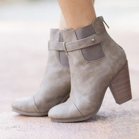 Taupe Designed Booties