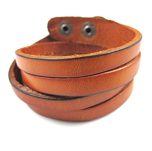 Bangle leather bracelet buckle bracelet men bracelet women bracelet made of  leather and metal cuff bracelet SH-1914