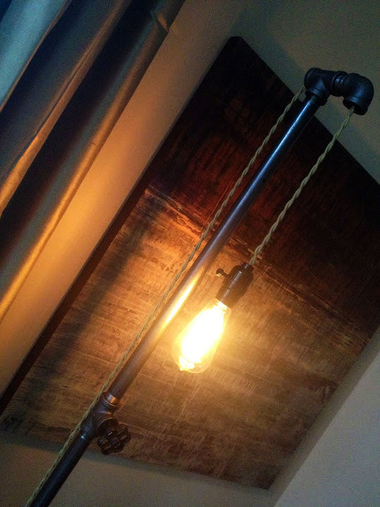 edison bulb industrial floor lamp pipe from newwineoldbottles. Black Bedroom Furniture Sets. Home Design Ideas
