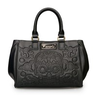 Loungefly Black Embossed Sugar Skull Fashion Tote - View All - Bags