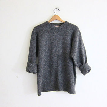 simple gray vneck Sweater. women's size large