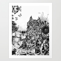 Lay of the land Art Print by Kristy Patterson Design