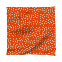 Tangerine Orange and Beige Stylish Spotted Scarf created by Pasion4Fashion | Print All Over Me