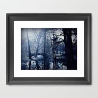 Reflective Thoughts In Parco Sempione Framed Art Print by Louisa Catharine Forsyth #society6