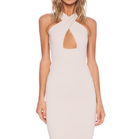 Nookie Marylin Convertible Shift Dress in Nude