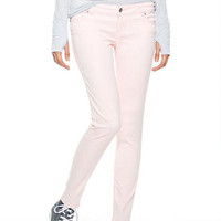 Olivia Low-Rise Jeggings in Creole Pink Acid Wash