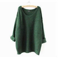 Chunky Knit Soft Slouchy Pullover Sweater