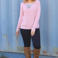 Pretty Little Jewel Sweater: Pink
