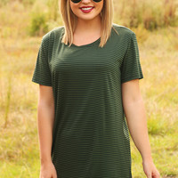 Take Me There Tunic: Olive/Black