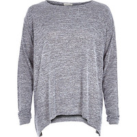 Grey knitted swing top