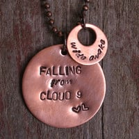 Wide Awake Pendant features Lyrics from Katy Perry's New Song on a Copper Necklace