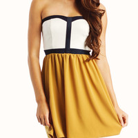 colorblock-tube-dress MUSTARD ROYAL