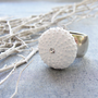 Sea Urchin Collection White Ring only US size 5 by staroftheeast