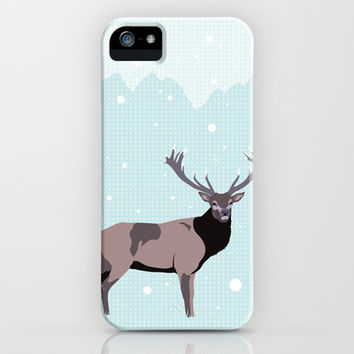 Snow Deer iPhone & iPod Case by Ornaart