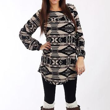 Native Traditions Dress, Blk