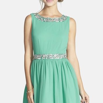 Way-In Embellished Skater Dress (Juniors)