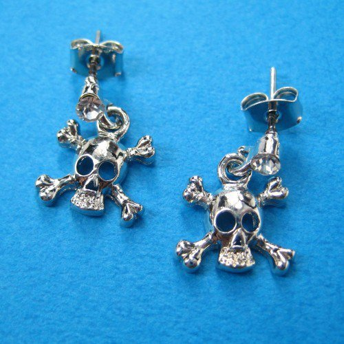 ONE DOLLAR SALE - Skeleton Skull Pirate Studs
