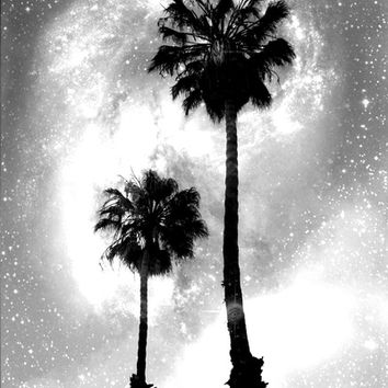 Palm Tree Galaxy Art Print by Derek Delacroix | Society6